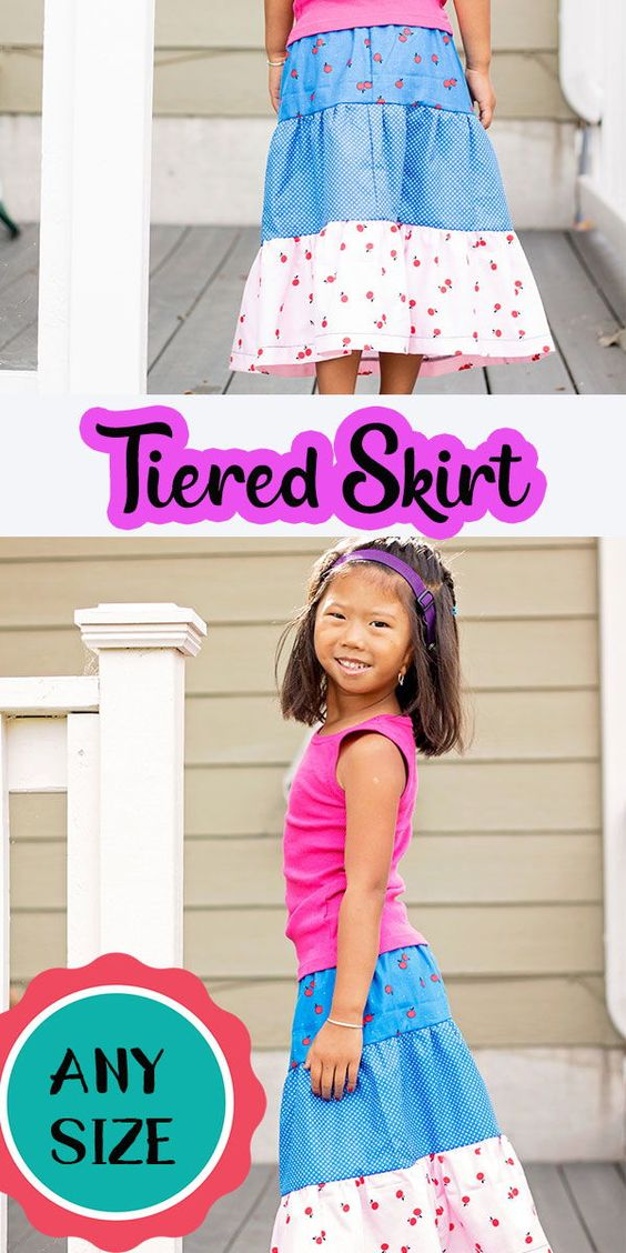 Tiered Skirt Pattern and tutorial