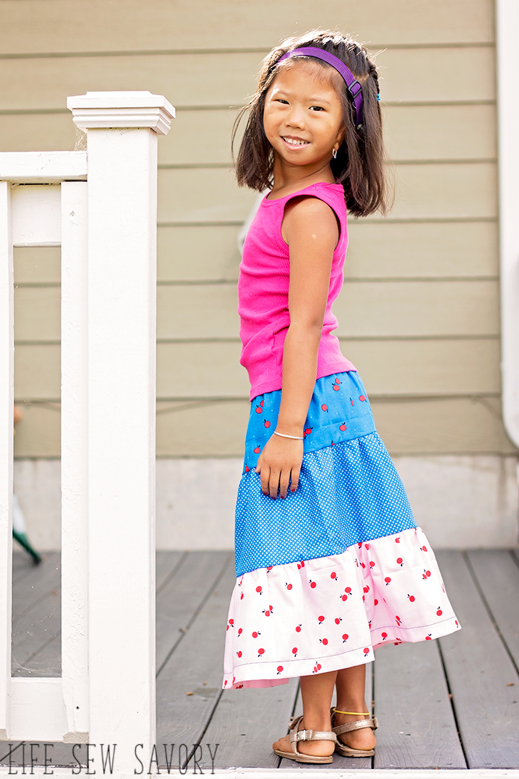how to make a tiered skirt