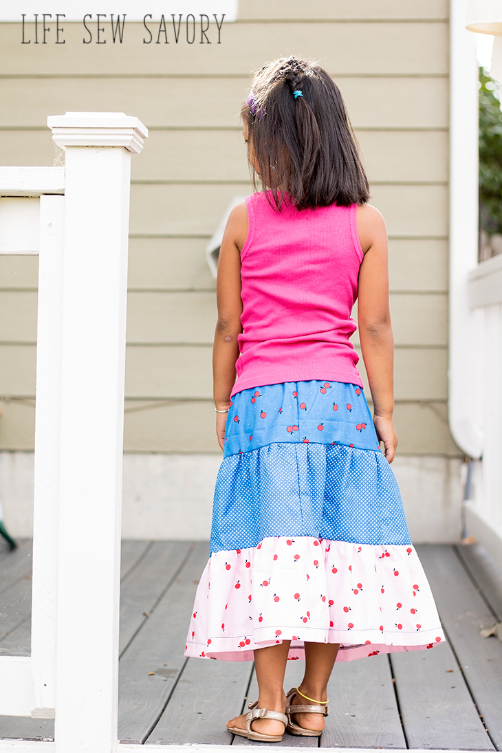 long tiered skirt tutorial