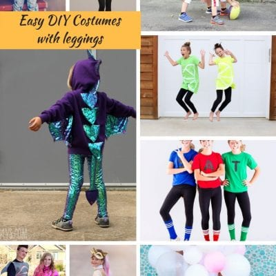 Easy DIY Halloween Costumes with Leggings