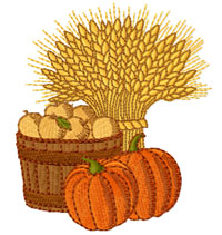 Harvest Embroidery Design