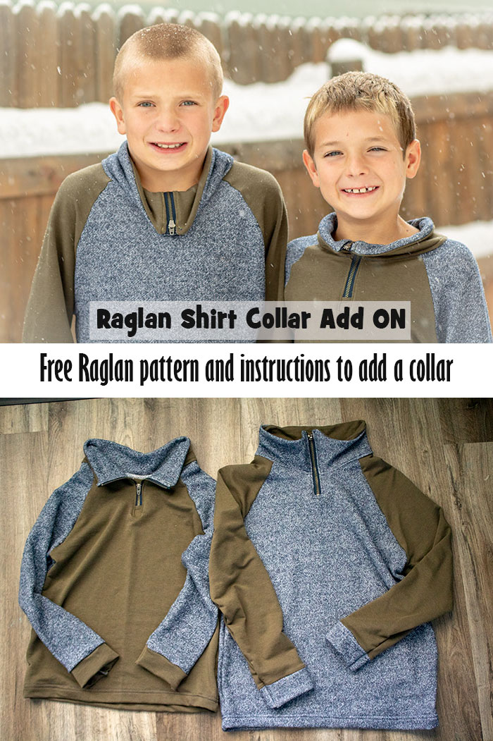 How to Sew a Collar with zipper free raglan pattern hack sewing tutorial from Life Sew Savory