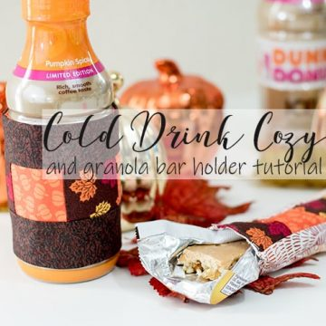 Cold Drink Cozy and granola bar holder