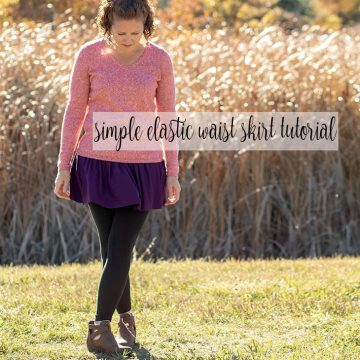 gathered skirt sewing tutorial