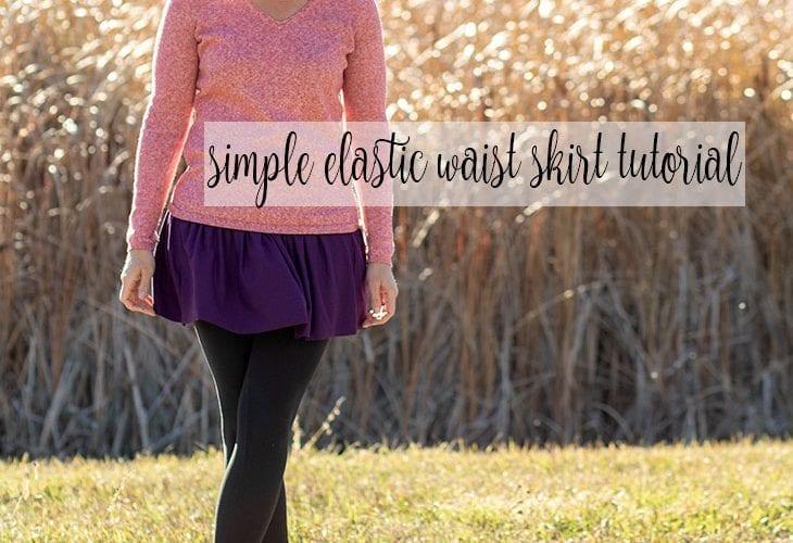 gathered skirt sewing tutorial