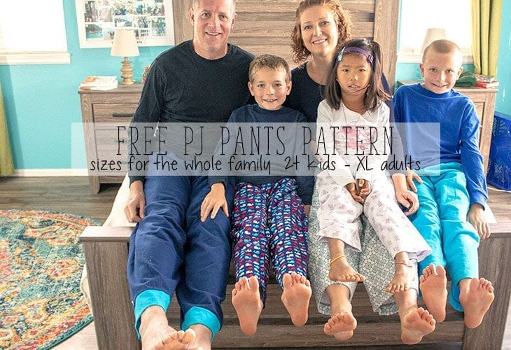 Pajama Pants Pattern – Free PDF for the Whole Family