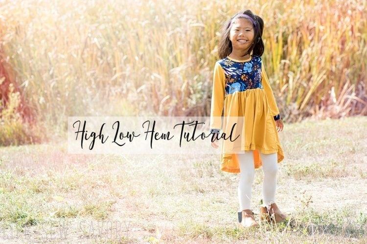 High Low Dress Pattern- Skirt Tutorial