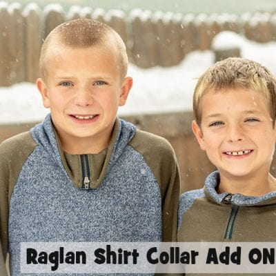 How to Sew a Collar with Zipper {Raglan Shirt Hack}