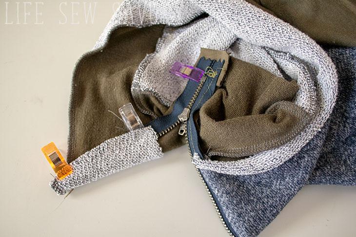 zipper collar sewing tutorial