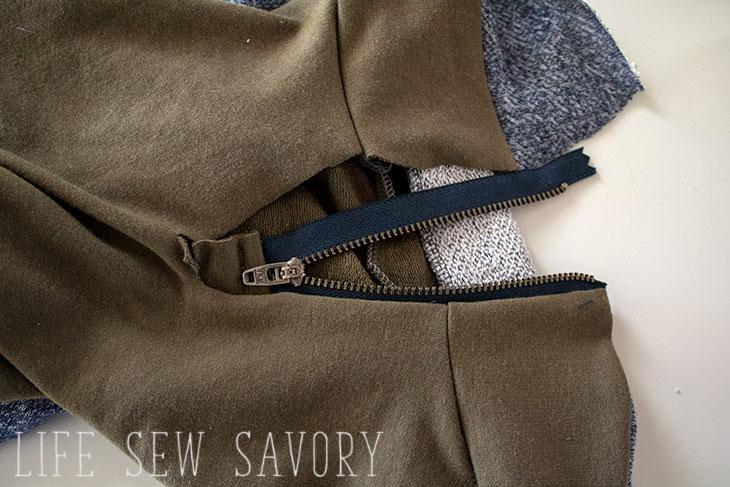 zipper collar tutorial