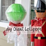 DIY Giant Lollipops – Dollar Tree Christmas Craft