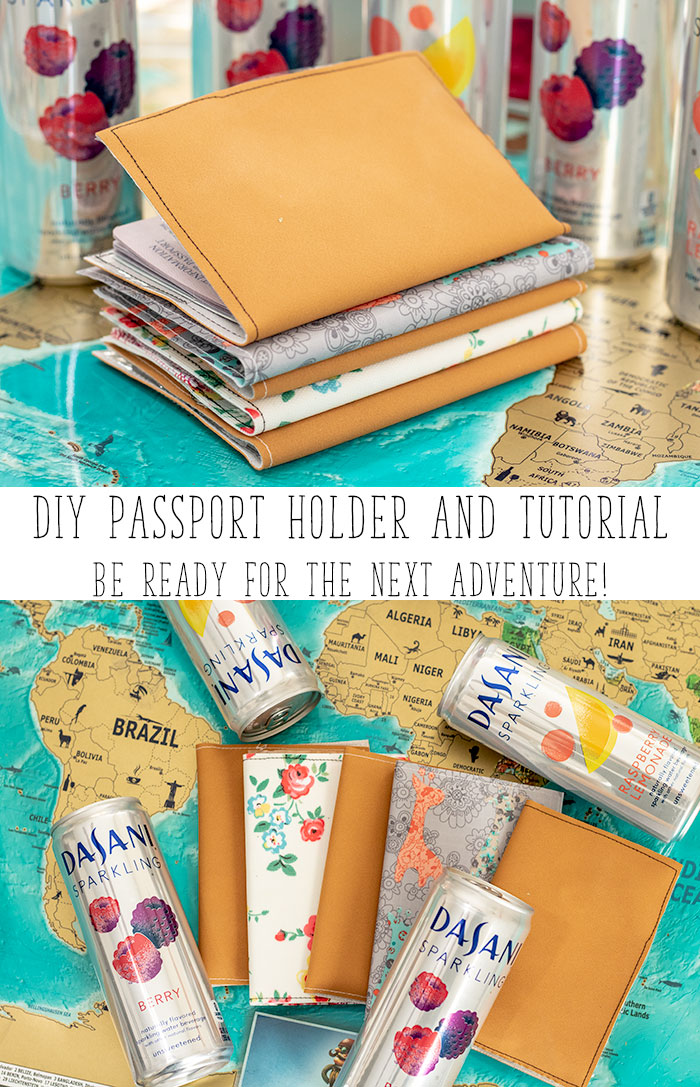 DIY Passport Holder and sewing tutorial to make your own passport cover from Life Sew Savory