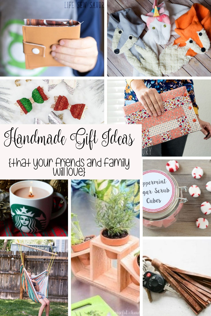 handmade gift ideas for Christmas from Life Sew Savory