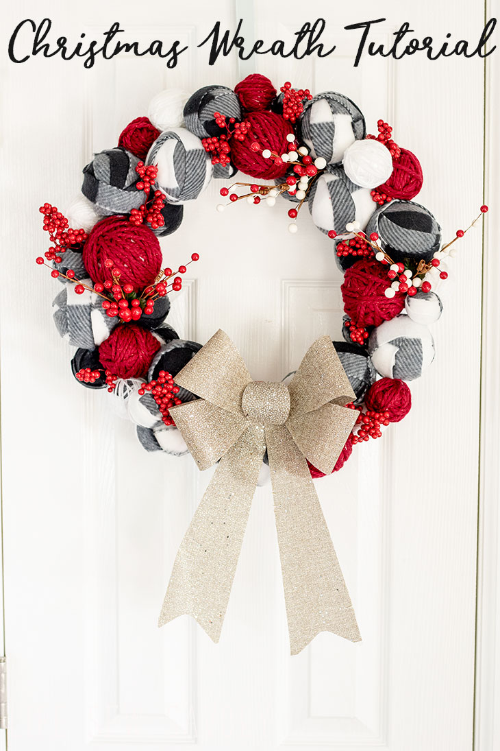 How to make a Christmas Wreath tutorial from Life Sew Savroy