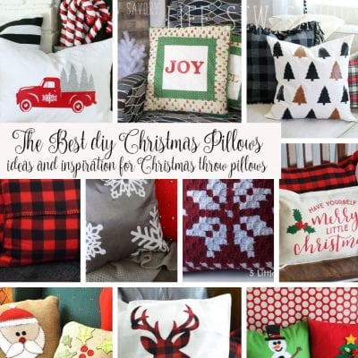DIY Christmas Pillows Ideas {more than 30!!}