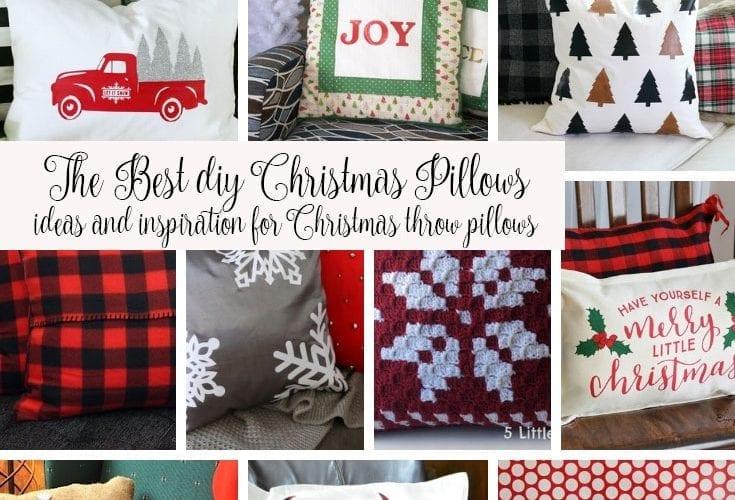 DIY Christmas Pillows Ideas {more than 30!!}