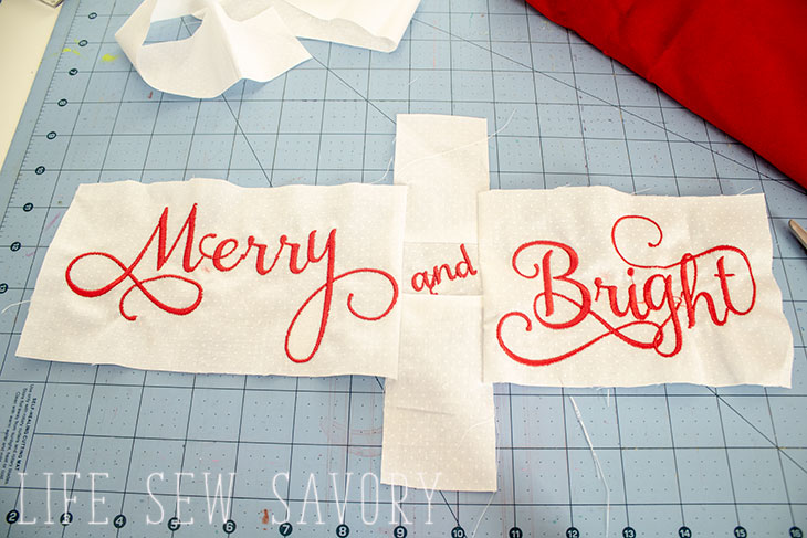 Christmas Pillow sewing tutorial