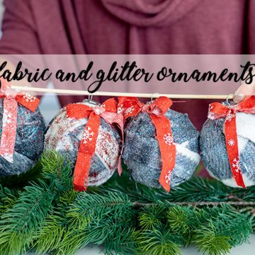 fabric and glitter ornaments