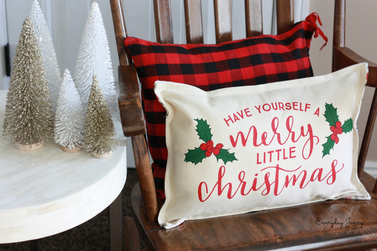 easy to make christmas pillow