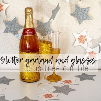 Glitter Star Garland – free cut file