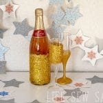Glitter drink glasses