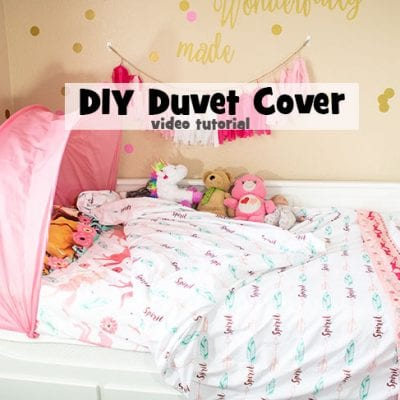 DIY Duvet Cover – from twin sheets