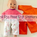 "Pj Pants! free doll clothes sewing patterns for dolls size 12-18"" from Life Sew Savory"