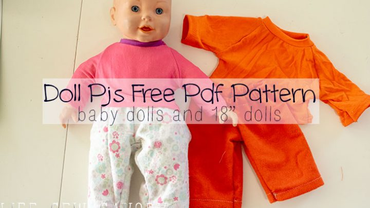 Pj Pants! free doll clothes sewing patterns for dolls size 12-18