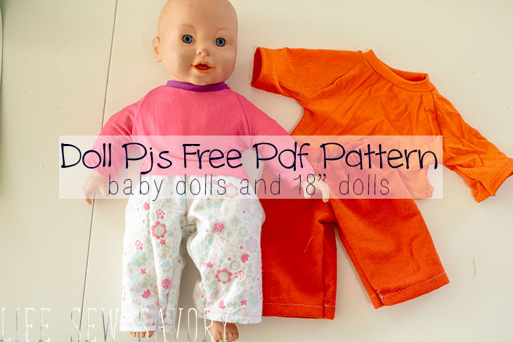3db429253 Pj Pants! free doll clothes sewing patterns - Life Sew Savory