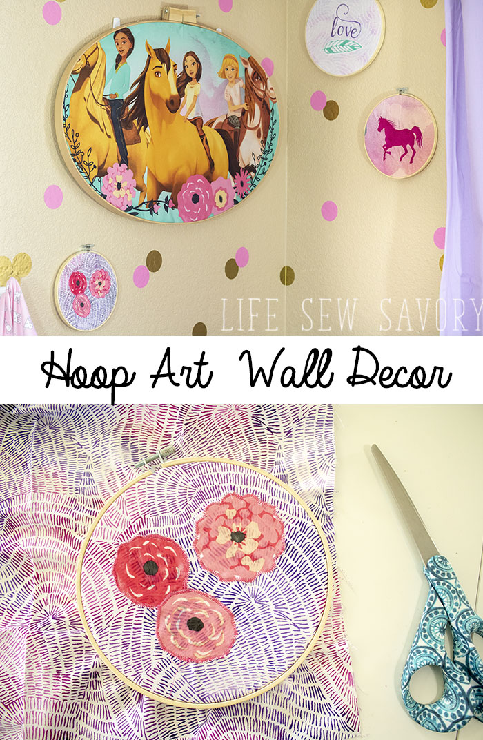Embroidery hoop art kids room wall decor ideas from Life Sew Savory