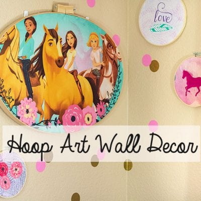 Embroidery Hoop Art – Kids Room Decorating Idea