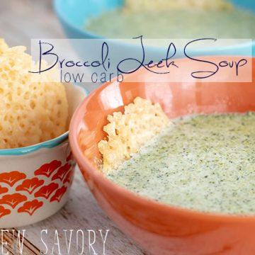 Low carb soup - broccoli leek recipe
