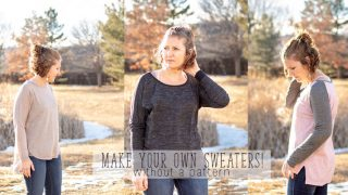 Make your own sweater - sewing tutorial