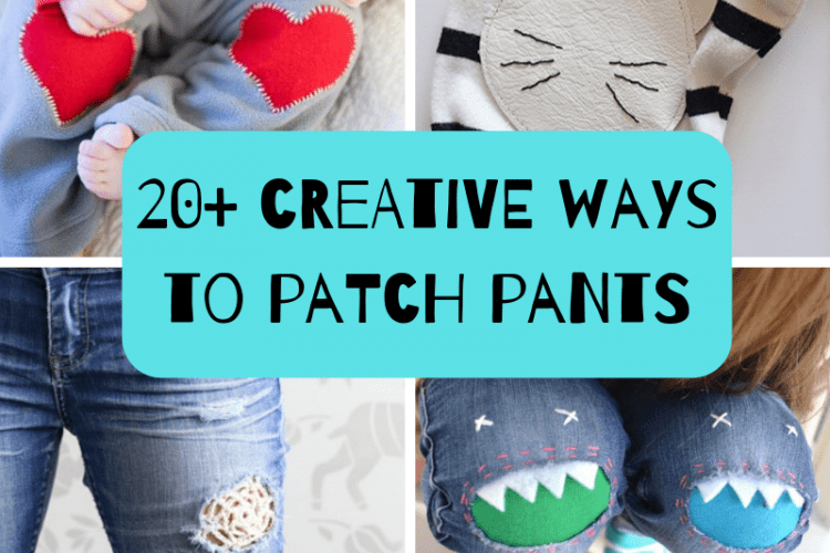 pants patches mode cute!!