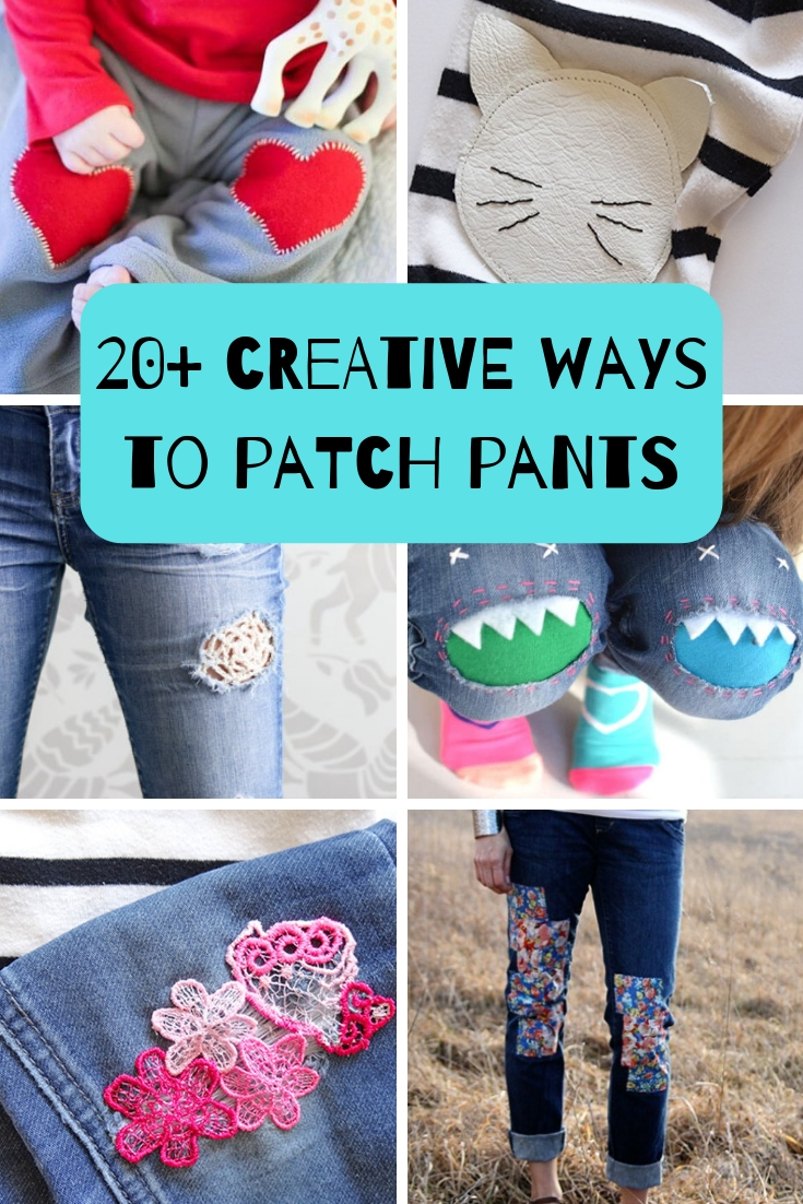 Creative ways to patch pants for more wear from Life Sew Savory