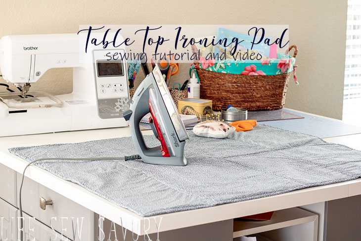 Ironing pad for table top tutorial