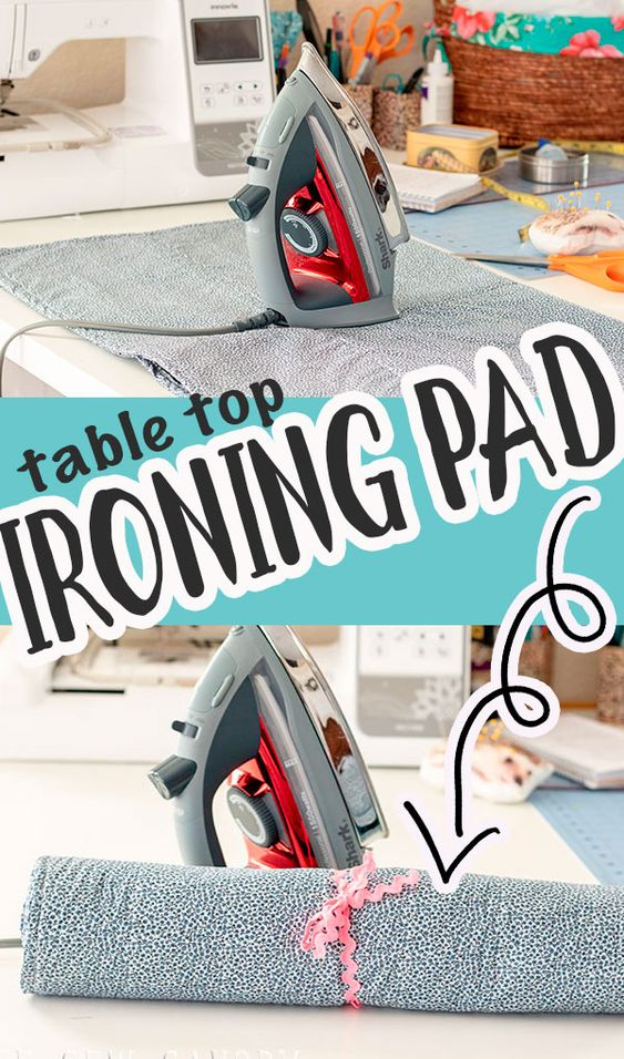 Use this ironing pad for table top tutorial to make your own portable table top ironing pad for easy and convenient use.