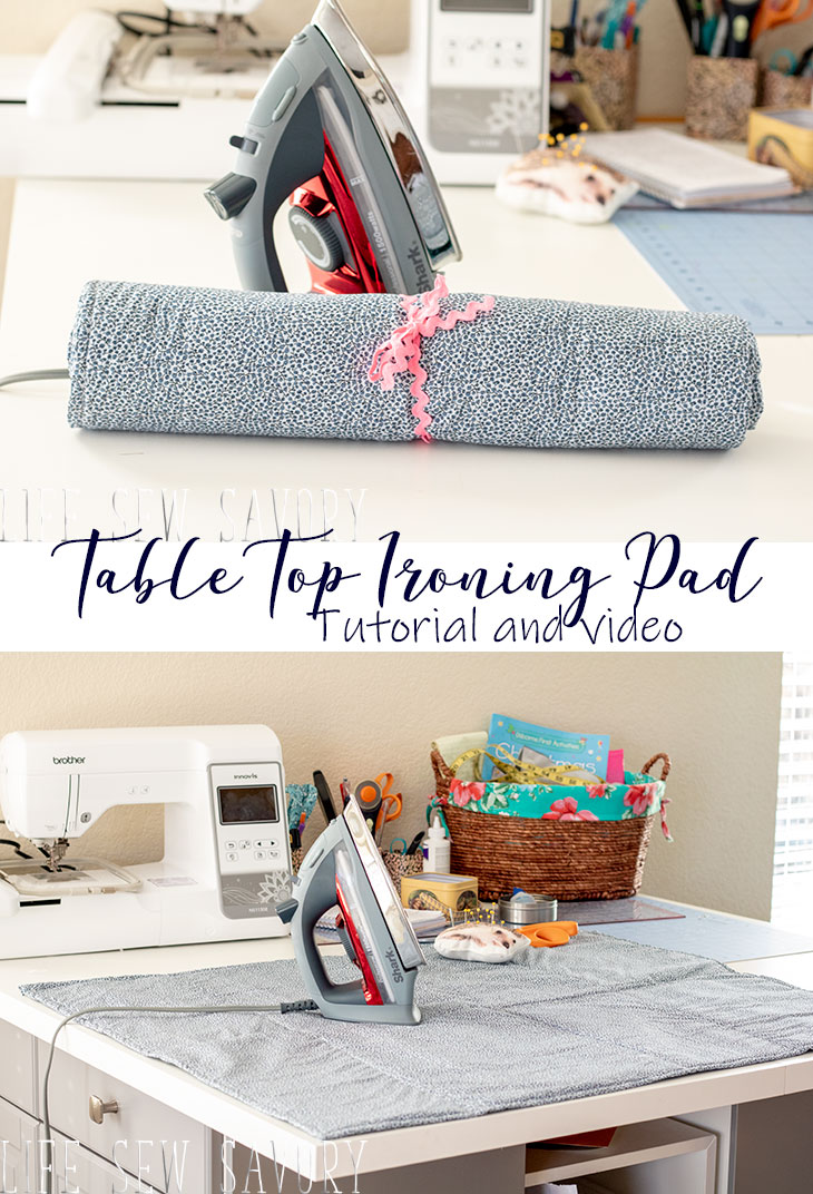 Ironing Pad for Table Top sewing tutorial and video diy from life sew savory