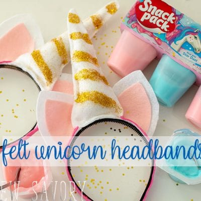 Felt Unicorn Headband – No Sew Tutorial