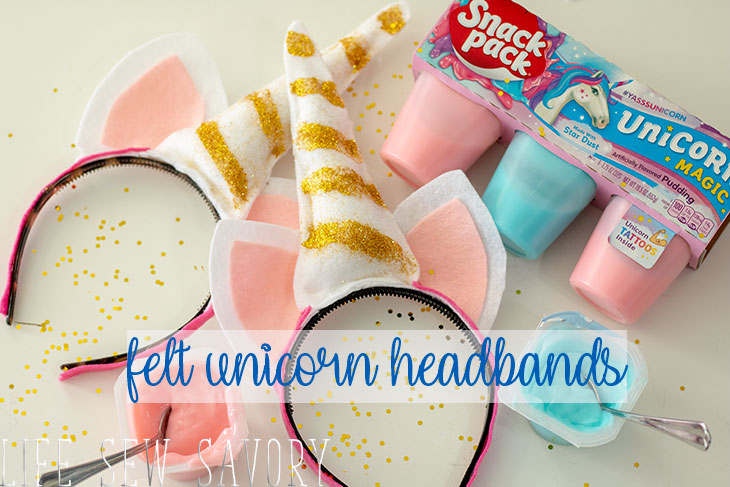 Felt Unicorn Headband DIY tutorial