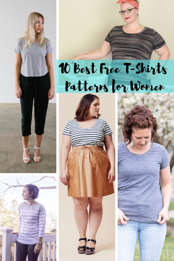 Free Sewing Patterns - Best Womens T Shirts from Life Sew Savory