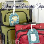 DIY Luggage Tags - With Embroidery