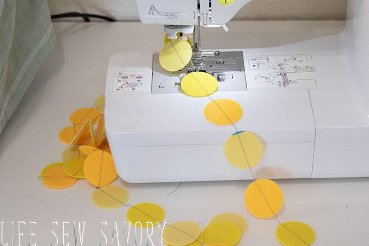 sew a felt circle garland