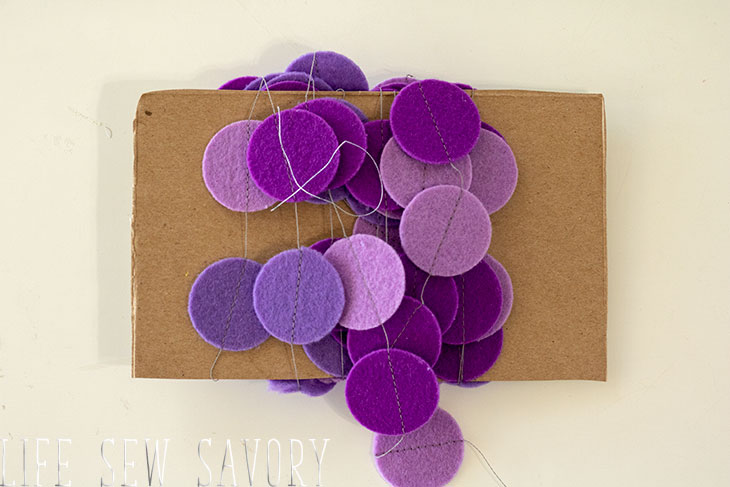 how to store felt circle garland