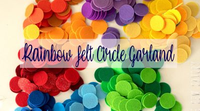 rainbow felt circle garland tutorial
