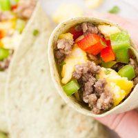 Breakfast Burrito Recipe for Bulk Freezer Cooking