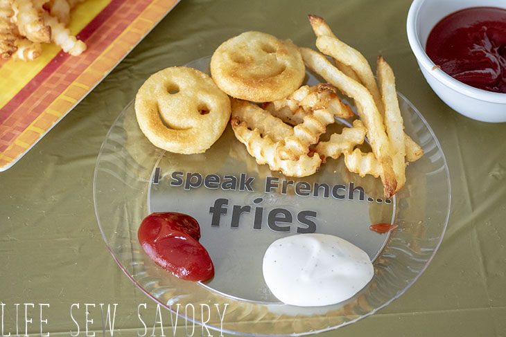 French fry plates with vinyl