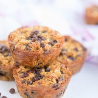 Baked Oatmeal Chocolate Chip Breakfast Cups