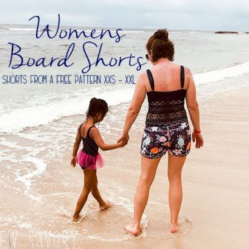 womens board shorts sewing pattern