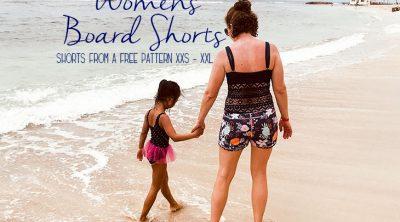 womens board shorts sewing pattern